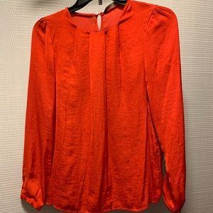 ZARA. Red Long sleeve Office Blouse. Size M